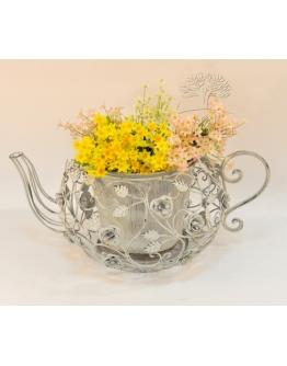 Кашпо для сада «Мари», цвет серая патина