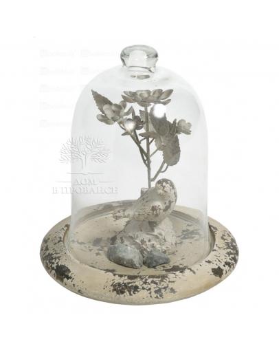 Фигурка под стеклом «Птичка на ветке»