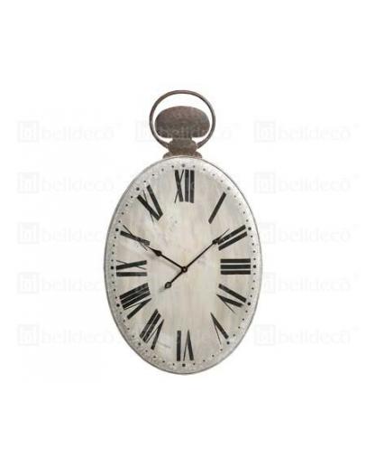 Часы овальные серые