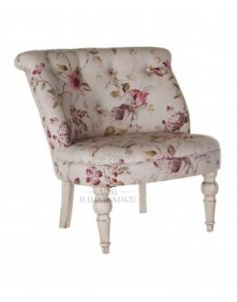 Низкое кресло, отделка «Цветы»