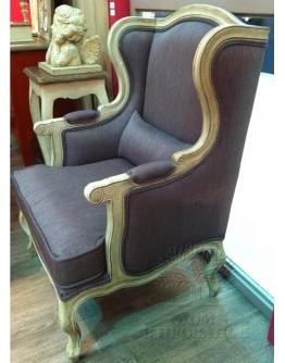Кресло с ушами, отделка «Фиолет»
