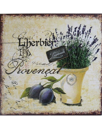 Принт на холсте «Прованские травы»