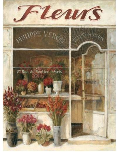 Принт на холсте «Магазинчик цветов А»