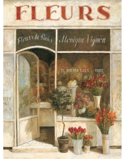 Принт на холсте «Магазинчик цветов Б»