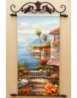Картина «Средиземноморская терраса» 30 х 60 см