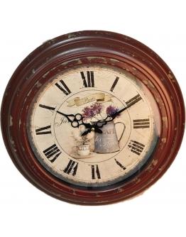 Часы «Парижское утро» бордовые