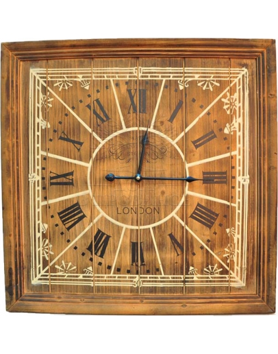 Часы настенные London деревянные