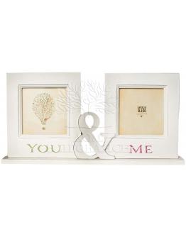 Фоторамка You&Me на 2 фото (квадратные)