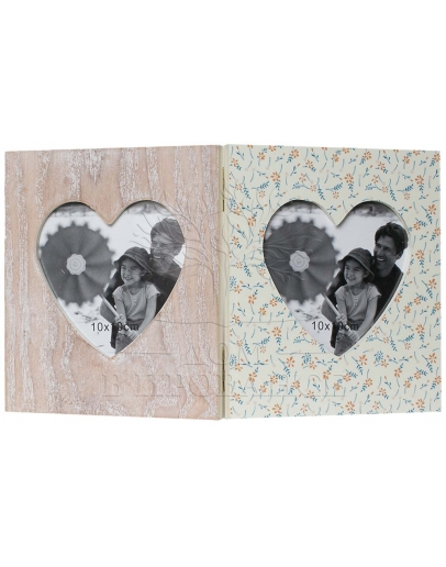 Фоторамка раскладная «Два сердца»