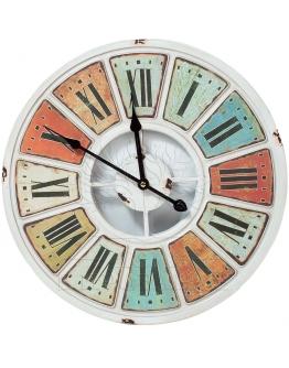 Часы настенные «Брызги цвета» металл