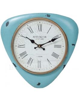 Часы настенные  лазурные, металл