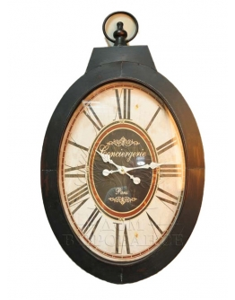 Часы овальные Consiergerie черные