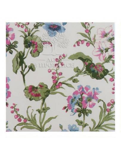 Ткань «Завиток» розовый цветок