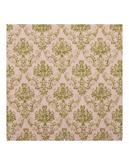 Ткань «Гертруда» зеленые узоры