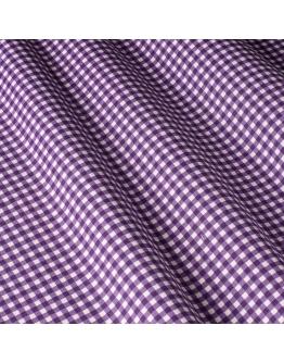 Ткань «Диана» фиолетовая мелкая клетка