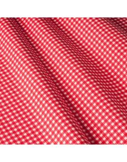 Ткань «Диана» красная мелкая клетка