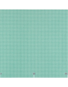 Ткань «Диана» бирюзовая мелкая клетка