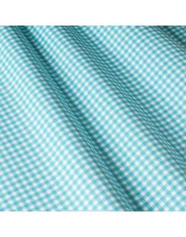 Ткань «Диана» голубая мелкая клетка