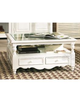 Кофейный столик «Гармония» со стеклянной столешницей