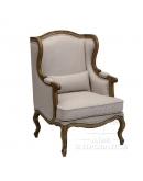 Кресло с ушами, отделка «Лен»