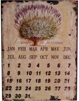 Календарь с лавандой