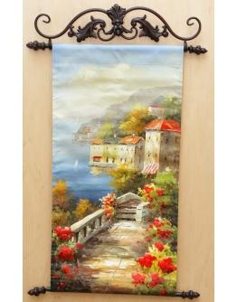 Картина «Весенняя набережная» 30 х 60 см