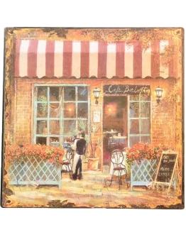 Принт на металле «Французское кафе»