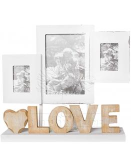 Фоторамка LOVE на 3 фото