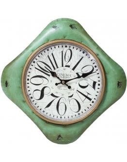 Часы настенные  изумрудные, металл