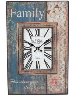 Часы настенные  Family, металл