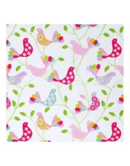 Ткань «Веселые птички» розовые