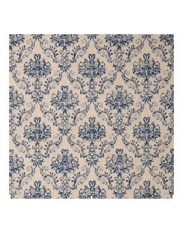 Ткань «Гертруда» синие узоры