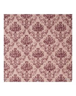 Ткань «Гертруда» бордовые узоры