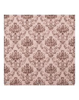Ткань «Гертруда» коричневые узоры