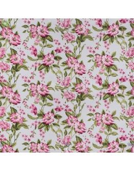 Ткань «Валериа» розовые цветы