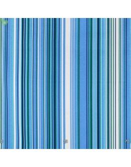 Ткань «Виола» сине-голубые полосы