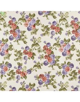 Ткань «Джулес» фиолетово-терракотовые цветы