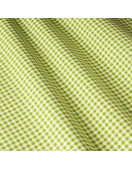 Ткань «Диана» оливковая мелкая клетка