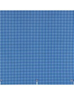 Ткань «Диана» синяя мелкая клетка