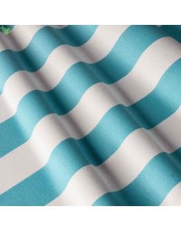 Ткань «Изолда» с голубыми широкими полосами